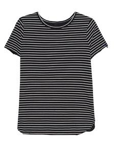 TRUE RELIGION Boxy Stripe Shirt Black