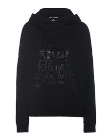 TRUE RELIGION Relax Rhinestones Black