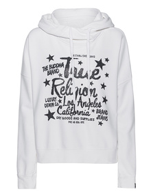 TRUE RELIGION Relax Rhinestones White