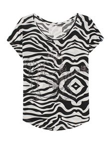 TRUE RELIGION Big Buddha Zebra Black White