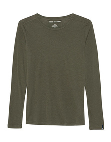 TRUE RELIGION Basic Long Crew Neck Olive