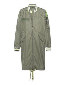 TRUE RELIGION Long Jacket Bomber Olive