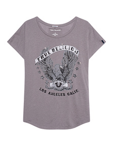TRUE RELIGION Crew Relax Eagle Grey