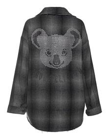 TRUE RELIGION Koala Checked Rhinestone Black