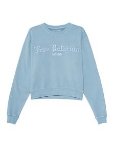 TRUE RELIGION Organic Cotton Boxy Blue