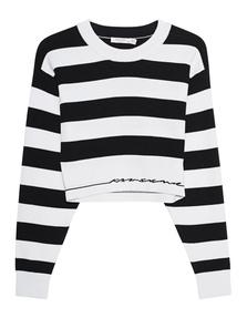 RAG&BONE Striped Cropped Black White