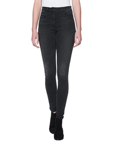3x1 High Rise Channel Seam Skinny Black