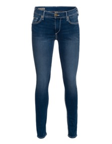 TRUE RELIGION Mid Rise Halle Skinny Super T Electric Night Blue