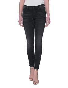 TRUE RELIGION Casey Low Rise Super Skinny Black Sky