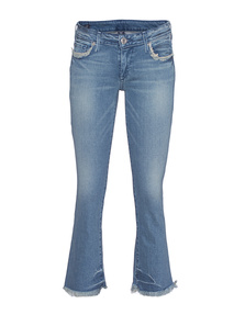 TRUE RELIGION Karlie Bell Bottom Crop Gypsy Blue
