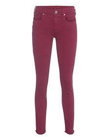 TRUE RELIGION Casey Super Skinny Crop Merlot