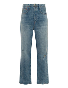 RAG&BONE Maya High Rise Ankle Straight Blue
