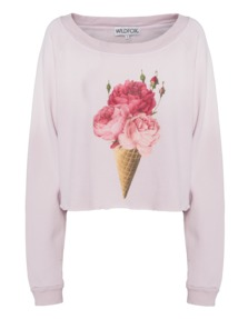WILDFOX Floral Cone Monte Crop Dirty Pout