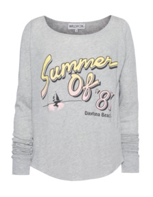 WILDFOX Summer Of 87 Vintage Heather Grey