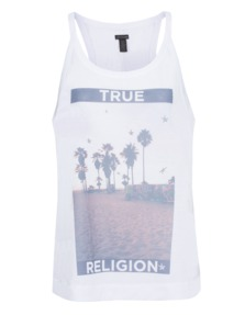 TRUE RELIGION Palm Tree Relaxed White