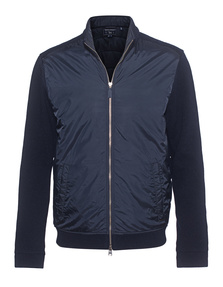 WOOLRICH Wool Cotton Track Navy