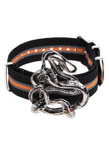 GABRIELE FRANTZEN Snake Candy Silver Orange