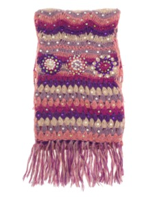 SALTY SKIN Multi Flower Fringe Purple