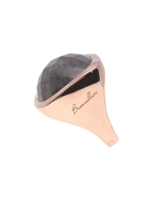 BRONZALLURE Faceted Squared Stone Rose Gold Grey