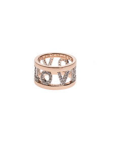 BRONZALLURE Shiny Love Band Rose Gold
