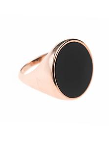 BRONZALLURE Alba Onyx Disc Ring