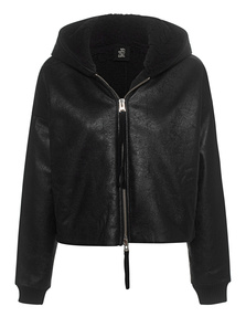 THOM KROM Cropped Destroyed Hooded