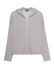 JAMES PERSE Hood Zipper Heather Oat Meal Grey