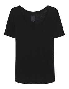 THOM KROM V Neck Cotton Black
