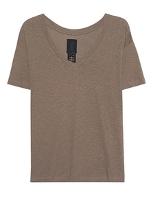 THOM KROM V Neck Scar Brown