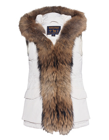 WOOLRICH W´s Military Parka Vest Off-White