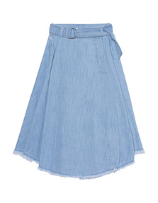 SJYP Denim Long Light Blue