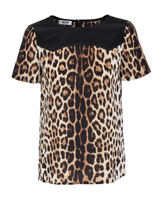 MOSCHINO Cheap and Chic Leo Detail Black Brown