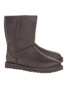 UGG Classic Short Leather Brown