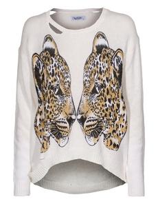 LAUREN MOSHI Jewel-Mirror Leopards Nature White