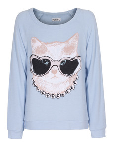 LAUREN MOSHI Brenna Sweat Cat Sunglasses blue