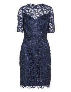 YOUNG COUTURE BY BARBARA SCHWARZER Double Tulle Lace Dark Blue