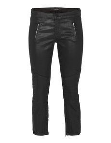 J BRAND Julia Mid-Rise Biker Crop Black Quartz