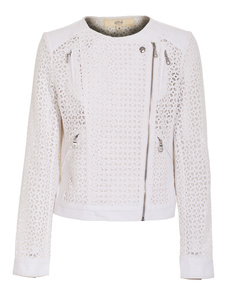 VANESSA BRUNO ATHÉ Zip-up Lace White