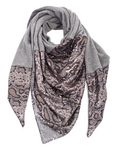 EBONY&IVORY Snake Sequin Heather Grey