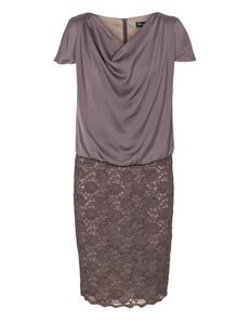 YOUNG COUTURE BY BARBARA SCHWARZER Cascade Shift Lace Taupe