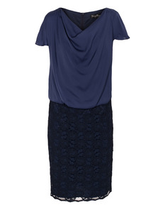 YOUNG COUTURE BY BARBARA SCHWARZER Cascade Shift Lace Dark Blue
