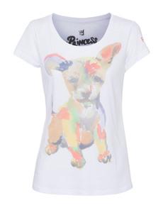 PRINCESS GOES HOLLYWOOD Painted Dog White