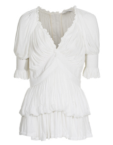 GIVENCHY Poplin Pleated White