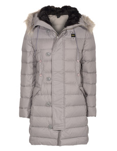 BLAUER USA Quilt Down Fur Hood Grey
