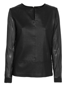 Michalsky Contrast Zip Black