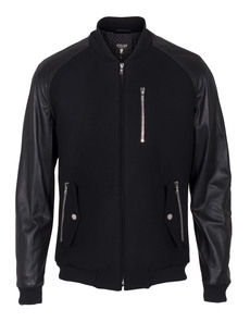 Atelier Michalsky Bomber Leather Black