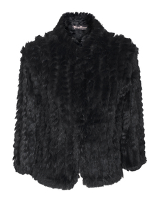 YOUNG COUTURE BY BARBARA SCHWARZER Fur Knit Black
