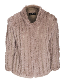 YOUNG COUTURE BY BARBARA SCHWARZER Fur Knit Greige