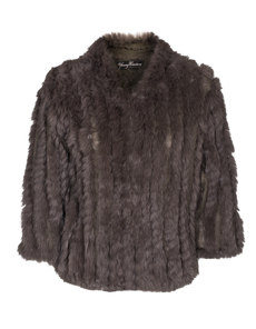 YOUNG COUTURE BY BARBARA SCHWARZER Fur Knit Dark Taupe