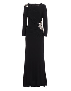 YOUNG COUTURE BY BARBARA SCHWARZER Rich Embellished Elegant Black